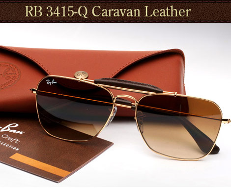 Ray Ban Caravan Leather shades