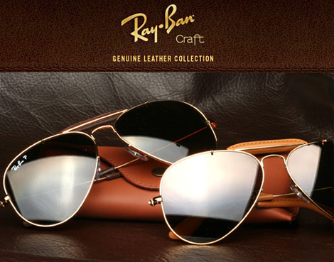 Ray Ban Craft Leather Aviators