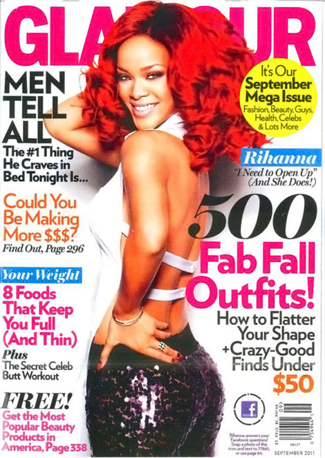 Rihanna Glamour September 2011 cover