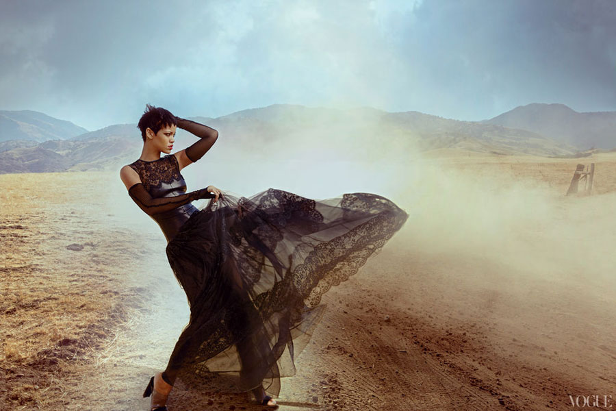 Rihanna Vogue November 2012 by Annie Leibovitz