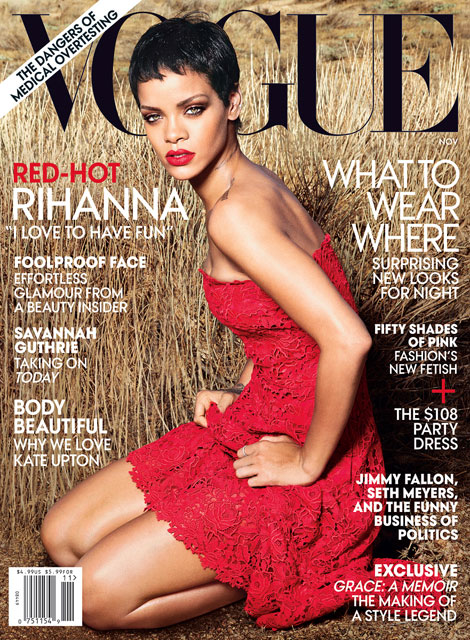 Rihanna Vogue November 2012 cover