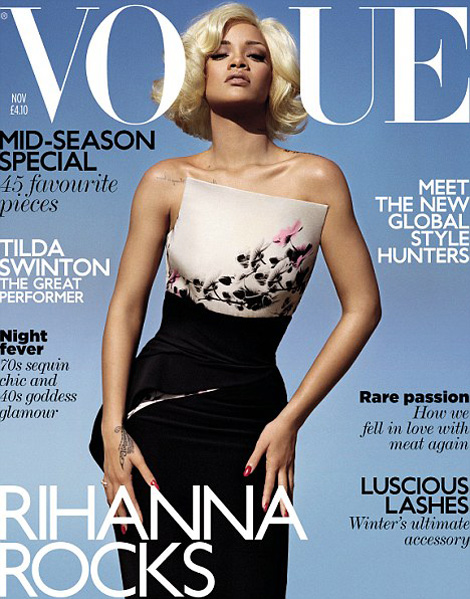 Rihanna Vogue UK November 2011 cover