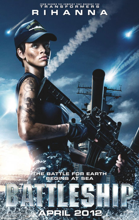 Rihanna poster for Battleship the movie
