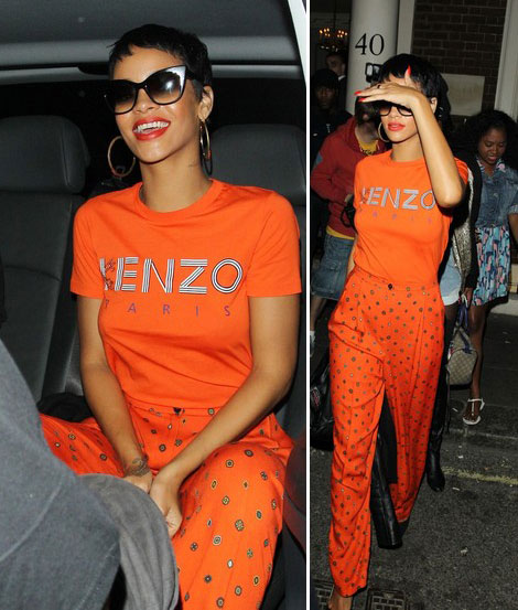 Rihanna Wearing Kenzo. Saves The Fashion House!