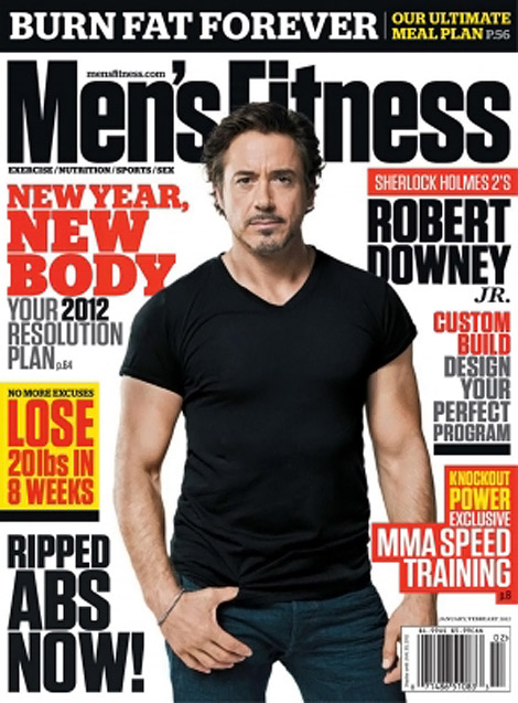 Robert Downey Jr covers Mens Fitness