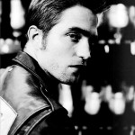 Robert Pattinson black and white portrait