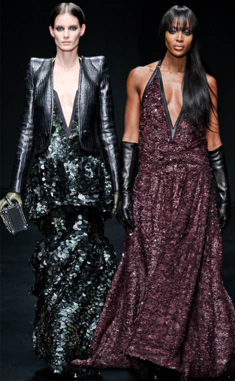 Roberto Cavalli Fall Winter 2012 2013 collection Naomi Campbell