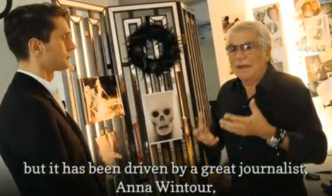 Roberto Cavalli about American Fashion and Anna Wintour