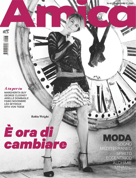 Robin Wright Amica cover