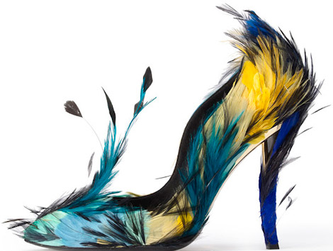 Is That A Bird? Nooo! It's A Roger Vivier Limited Edition Feathered Shoe!