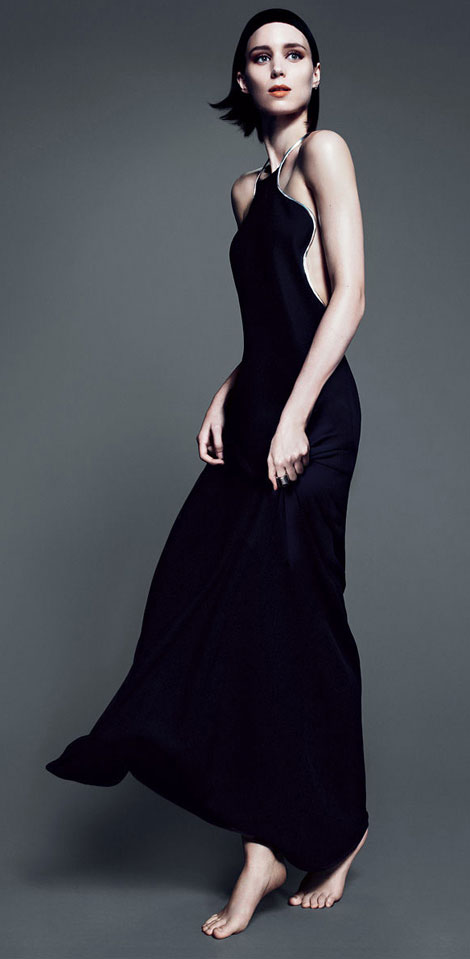 Rooney Mara posing for Vogue November 2011