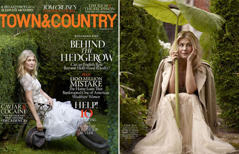 Rosamund Pike Town and Country magazine November 2011