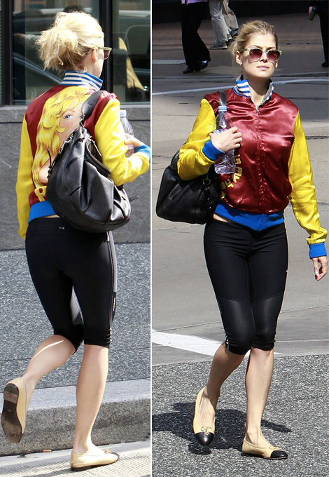 Drive Bomber Jacket, The Must Have Jacket: Rosamund Pike's Colorful Bomber Jacket