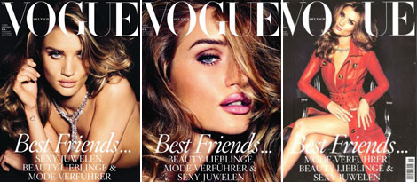 Rosie Huntington Whiteley Vogue Germany November 2011 covers