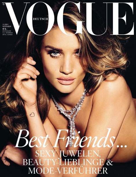 Rosie Huntington Whiteley Vogue Germany November 2011