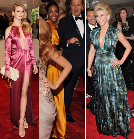 Rosie Huntington Whiteley Jourdan Dunn Julianne Hough Burberry dresses Met Gala 2011