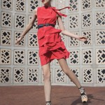 Ruffled Red Dress Summer Anthropologie