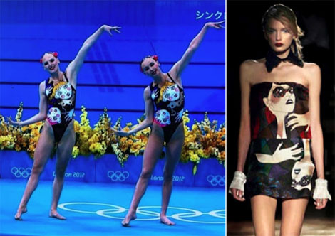 Fashionable Swimsuits: Russia's Synchro Swimsuits Inspired By Miu Miu Print