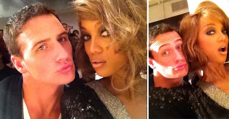 Tyra Banks & Ryan Lochte Pouting Together For Fashion