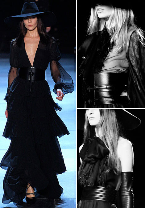 Saint Laurent Spring 2013 belts