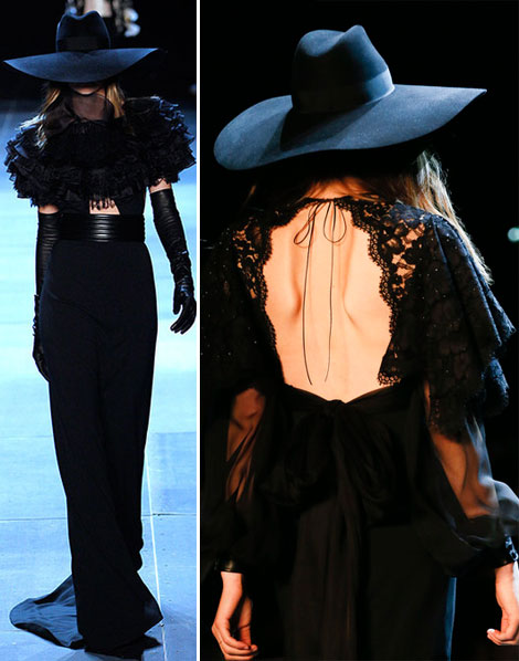Saint Laurent Summer 2013 hats and capes