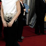 Sandra Bullock black and white Marchesa dress 2012 Oscars