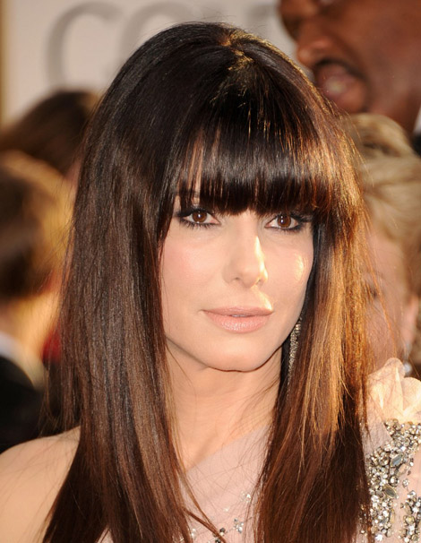 Sandra Bullock hair Golden Globes 2011