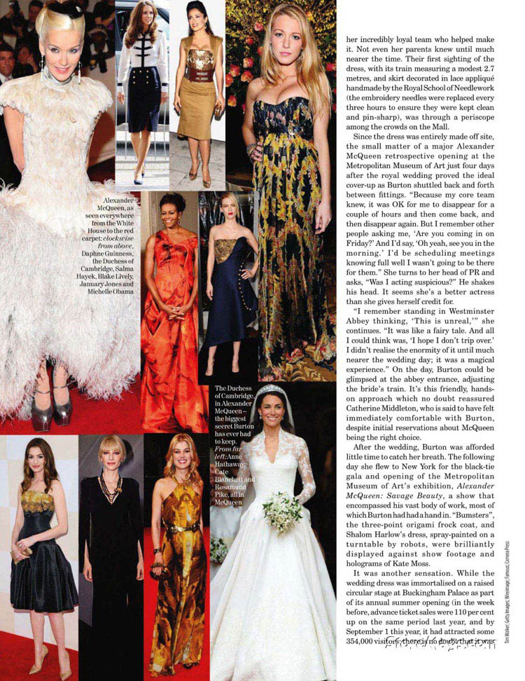 Sarah Burton Talks Alexander McQueen, The Royal Wedding In Vogue UK December 2011