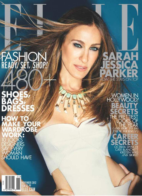 Sarah Jessica Parker Elle Magazine November 2012 cover