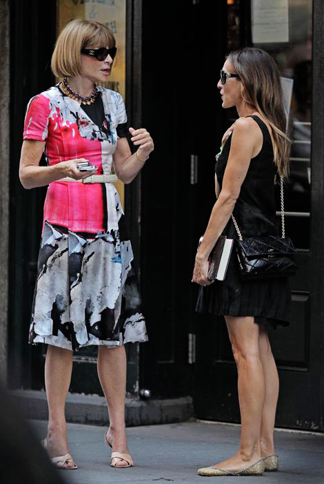 Sarah Jessica Parker meeting Anna Wintour for role