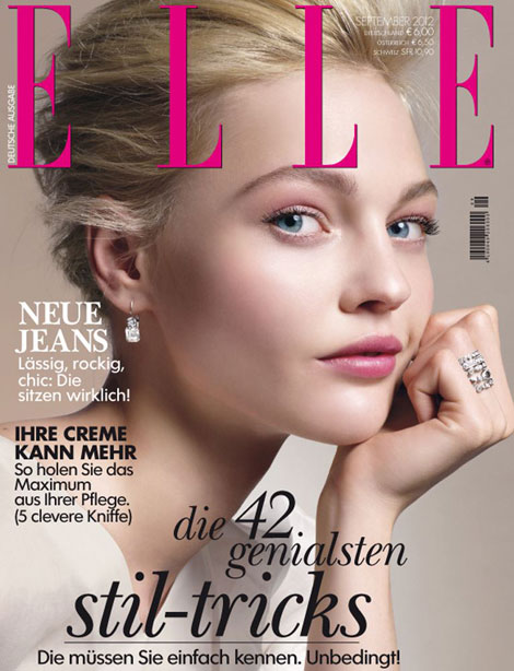 Sasha Pivovarova Elle Germany September 2012 cover