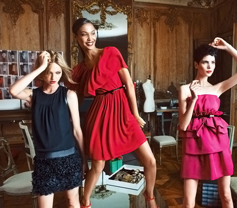 Sasha Pivovarova, Joan Smalls For Macy's Giambattista Valli for Impulse Collection