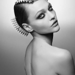 Sasha Pivovarova Maison Michel FW 11 headpiece