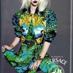 Sasha Pivovarova Versace H and M collection ad campaign