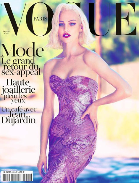 Sasha Pivovarova Vogue Paris October 2011 cover