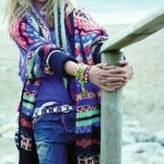Sasha Pivovarova beach photo VP Sonia Rykiel sweater