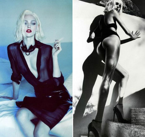 Sasha Pivovarova or Anja Rubik in Vogue Paris October 2011