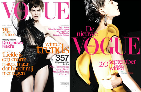 Saskia de Brauw covers Dutch Vogue October 2012