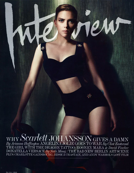 Scarlett Johansson Interview magazine December 2011 cover