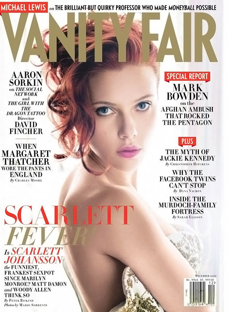 Scarlett Johansson Vanity Fair December 2011 cover