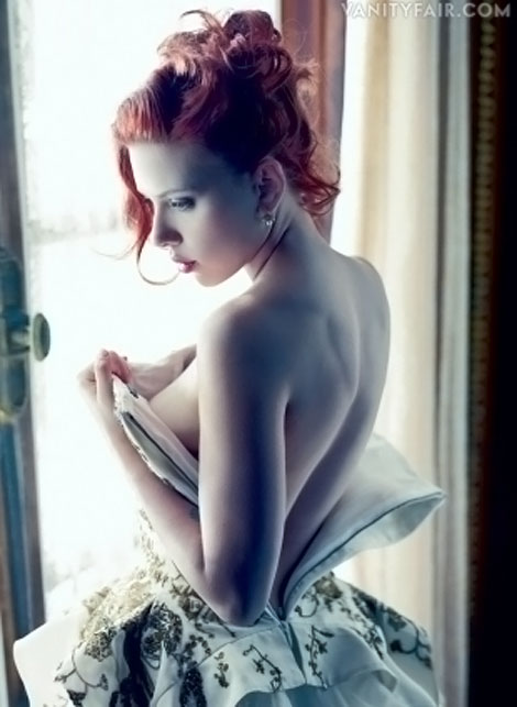 Scarlett Johansson Vanity Fair December 2011 photographed by Mario Sorrenti