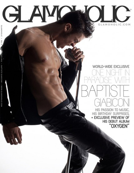 Shirtless Baptiste Giabiconi Glamoholic cover