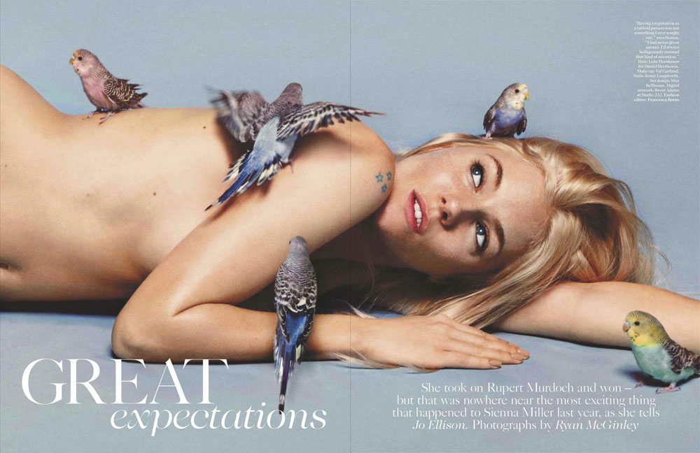 Sienna Miller Vogue UK pictures Ryan McGinley