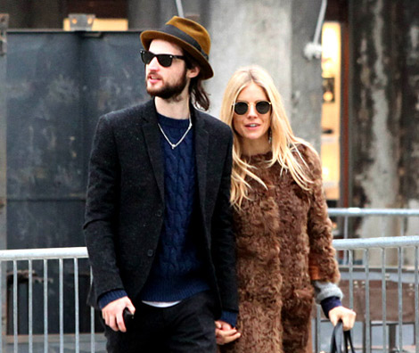 Sienna Miller with boyfriend Tom Sturridge