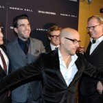 Simon Baker Paul Bettany Stanley Tucci wearing eyeglasses