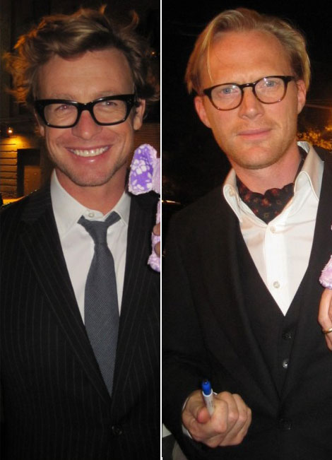Simon Baker Paul Bettany wearing glasses