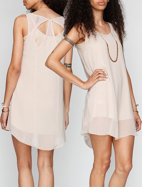 Favorite Summer Dress: Taupe Retro Sheer Dress