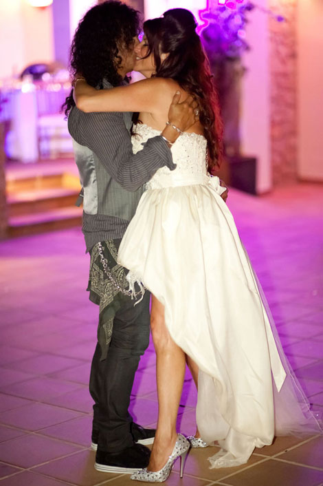 Slash wedding to Perla Hudson