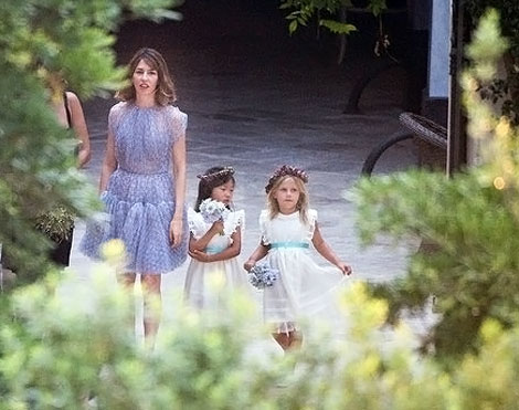 Sofia Coppola Azzedine Alaia lavender wedding dress