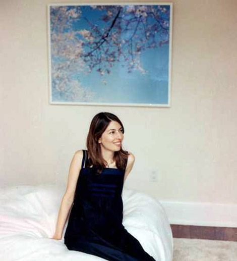 Sofia Coppola in her apartment bedroom